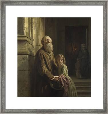 The Blind Beggar Framed Print