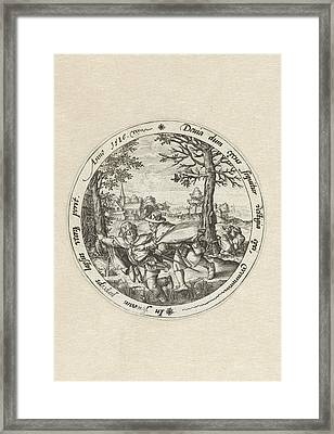 The Blind Leading The Blind, Hendrick Goltzius Framed Print by Hendrick Goltzius