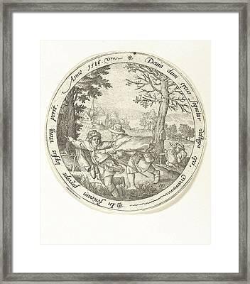 The Blind Leading The Blind, Print Maker Hendrick Goltzius Framed Print by Hendrick Goltzius