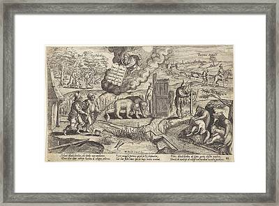 The Blind Shepherds, Antonie Wierix II Framed Print by Antonie Wierix (ii) And Willem Van Haecht (i)