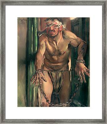 The Blinded Samson Framed Print by Mountain Dreams