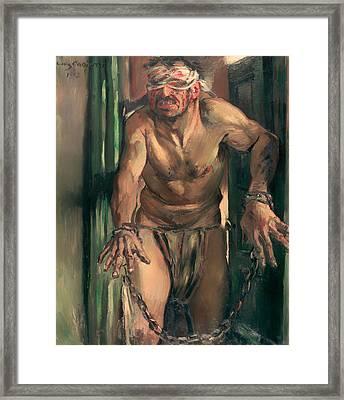The Blinded Samson Framed Print