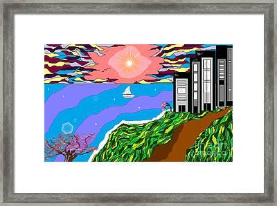 The Bliss Resort Framed Print by Lewanda Laboy