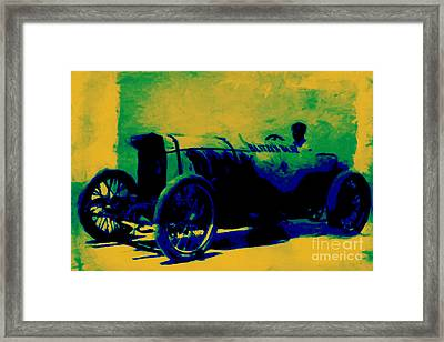 The Blitzen Benz Racer - 20130208 Framed Print by Wingsdomain Art and Photography