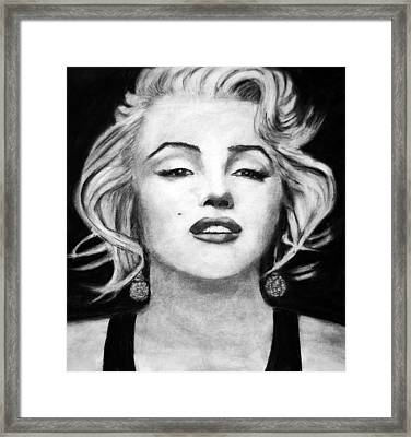 The Blonde Framed Print