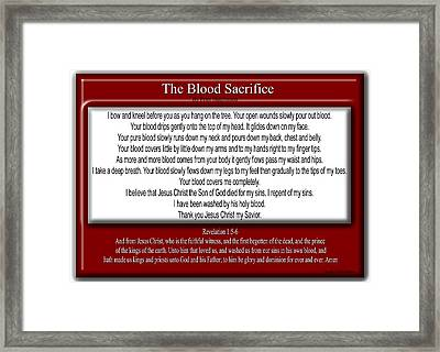 The Blood Sacrifice Framed Print by Bible Verse Pictures