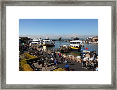 The Blue And Gold Fleet Ferry Boat At Pier 39 San Francisco California 5d26040 Framed Print by Wingsdomain Art and Photography