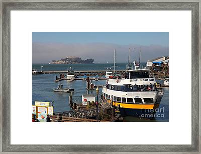 The Blue And Gold Fleet Ferry Boat At Pier 39 San Francisco California 5d26043 Framed Print by Wingsdomain Art and Photography