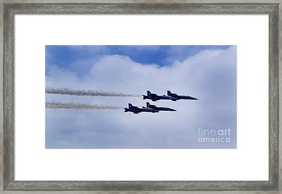 The Blue Angels Framed Print by Benjamin Reed