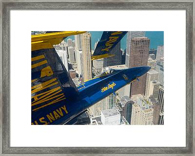 The Blue Angels Over Chicago Framed Print