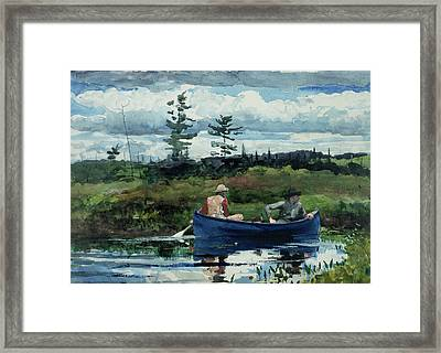 The Blue Boat Framed Print