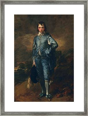 The Blue Boy, C.1770 Framed Print