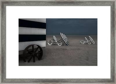The Blue Cabin... Framed Print
