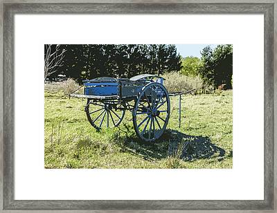 The Blue Cart Framed Print by Gary Cowling