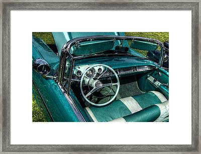 The Blue Chevy Framed Print by Linda Unger