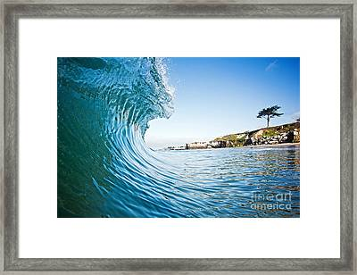 The Blue Curl Framed Print by Paul Topp