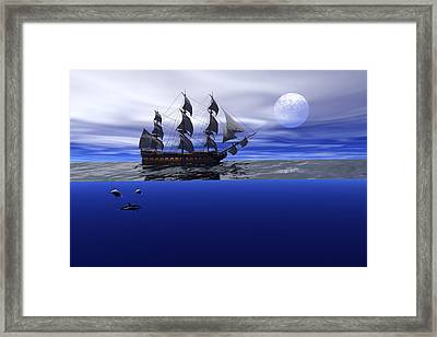 The Blue Deep Framed Print by Claude McCoy