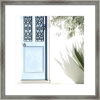 The Blue Door Framed Print by Holly Kempe