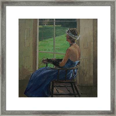 The Blue Dress, 2009 Oil On Canvas Framed Print by Pat Maclaurin