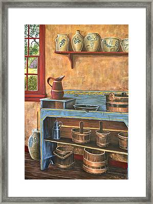 The Blue Dry Sink Framed Print by Dave Hasler