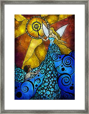The Blue Fairy Framed Print by Mandie Manzano