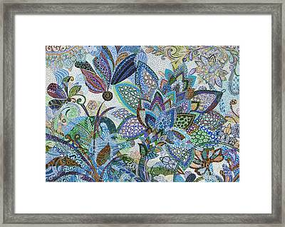 The Blue Flower Framed Print