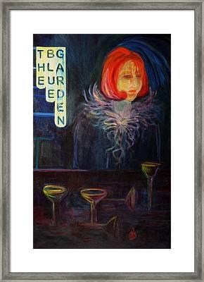 The Blue Garden Framed Print by Carolyn LeGrand