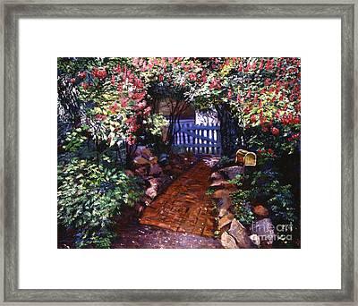 The Blue Garden Gate Framed Print