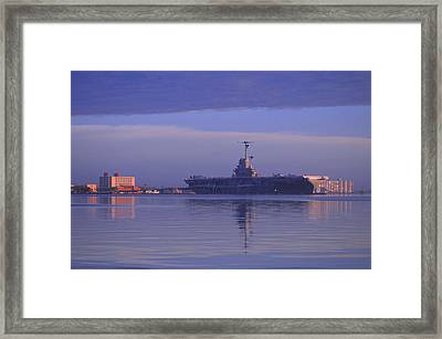 The Blue Ghost Framed Print