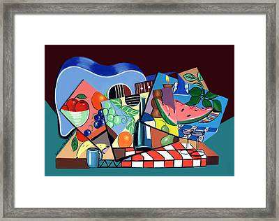 The Blue Guitar Framed Print by Anthony Falbo