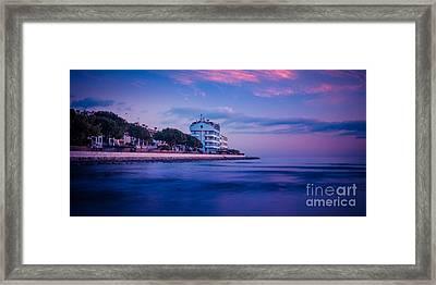 the blue hour - Grado Framed Print