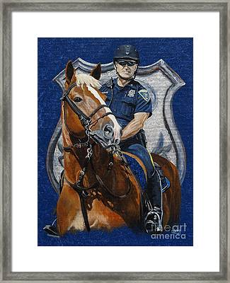 the Blue Knight Framed Print by Pat DeLong