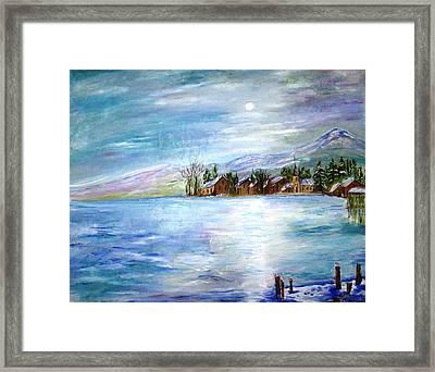 The Blue Lake Framed Print