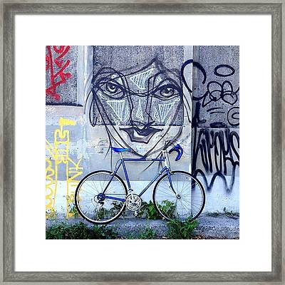 The Blue Meenie Lookin At You Framed Print