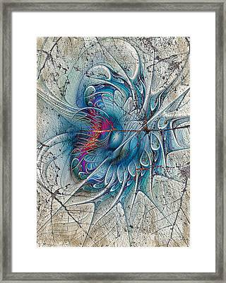 The Blue Mirage Framed Print
