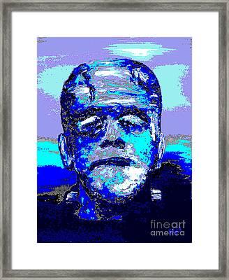 The Blue Monster Framed Print