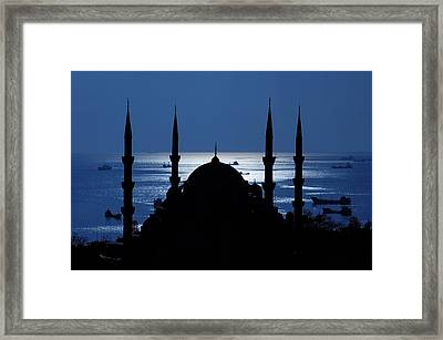 The Blue Mosque Framed Print