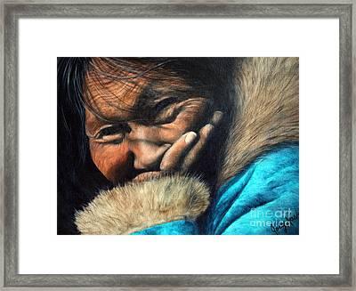 The Blue Parka Framed Print