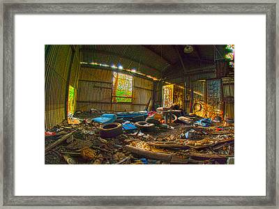 Framed Print featuring the photograph The Blue Pillow Room by Kimberleigh Ladd