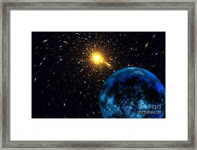 The Blue Planet Framed Print by Klara Acel