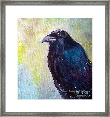 The Blue Raven Framed Print