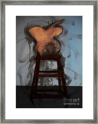 The Blue Room I - The Moth Framed Print by Filip D Jensen
