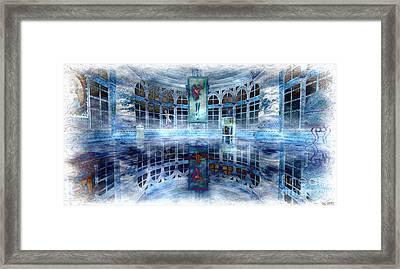 Framed Print featuring the digital art The Blue Room by Susanne Baumann
