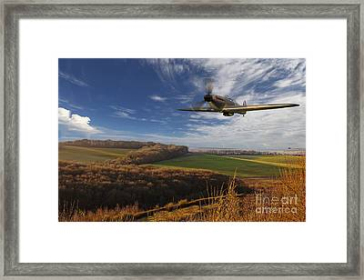 The Blue Skies Of Britain. Framed Print by Pete Reynolds