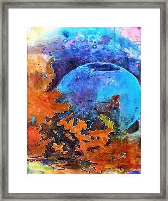 The Blue Sphere Framed Print by JAXINE Cummins