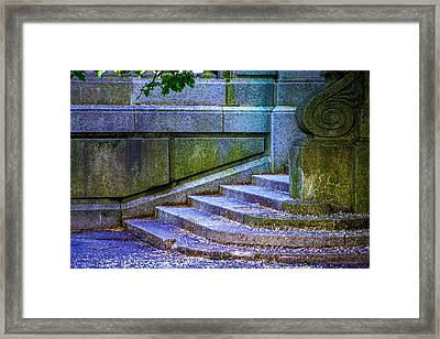 The Blue Stairs Framed Print