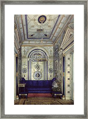 The Blue Study In The Grand Palais In Tsarkoye Selo, Before 1840 Wc, Gouache & Ink On Paper Framed Print