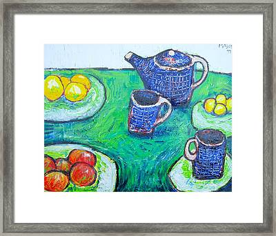 The Blue Teapot Framed Print by Clarence Major
