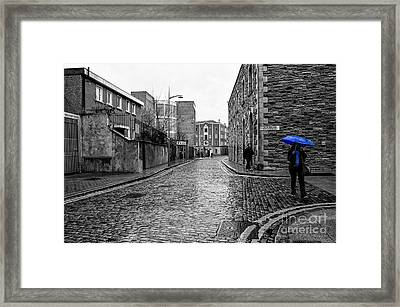 The Blue Umbrella - Sc Framed Print