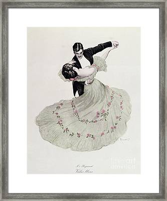 The Blue Waltz Framed Print by Ferdinand von Reznicek